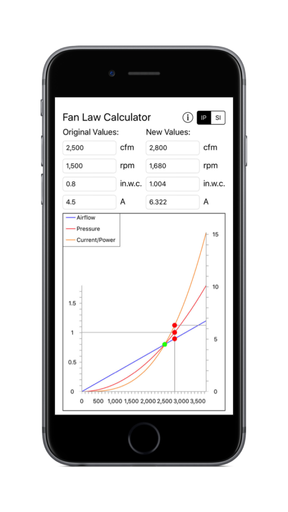 Fan Law Calculator - iPhone-6s-Space-Gray-vertical