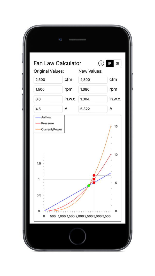 Fan Law Calculator for iPhone and iPad - Quick Fan Modeling Made Easy